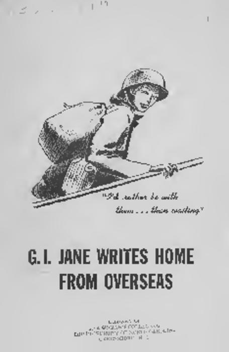 A pamphlet containing excerpts from letters written by servicewomen during World War II.